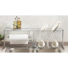 For the camper:   Chrome Kitchen Organizer With Dish / Paper Towel...