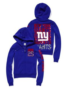 Sparkly NY Giants hoodie from VS PINK