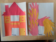 H for house and hands preschool activities, houses, butterflies, hands, learning, letters, h preschool crafts, alphabet craft, preschools