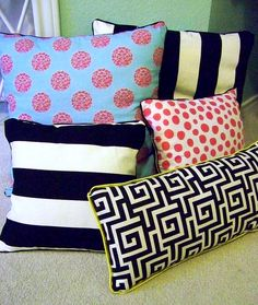 How to make DIY no-sew pillows with piping!