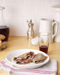 Folded Crepes with Smoked Ham and Butter Recipe