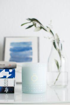 Happy Interior Blog: Happy Interior Blog Recommends: Skandinavisk #candle #mediterranean #blue #vignette