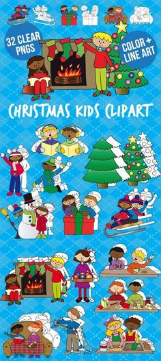 Christmas kids clip art
