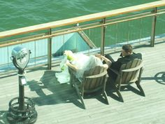Wedding at the beautiful One Atlantic, Atlantic City NJ. Photo OP-couple on the observation deck