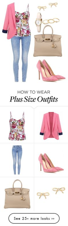 """M147"" by pinkgirl501 on Polyvore featuring G-Star, Gianvito Rossi, Herm????s, Kate Spade and Mudd"