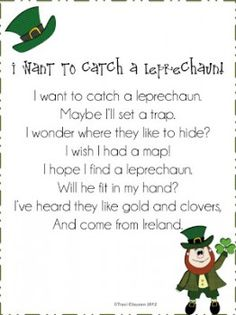 St. Patricks Day Poetry Preschool Lesson Plan