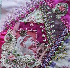 crazy quilting - check out the crown