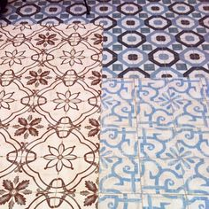 Floor tiles at the P