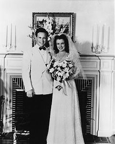 Marilyn Monroe's first wedding to James Dougherty in 1942