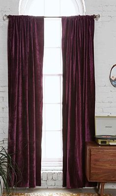 velvet purple curtains  http://rstyle.me/n/jwb7hpdpe
