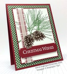 Ornamental Pine, Stampin' Up!, Brian King - such a pretty Christmas card!