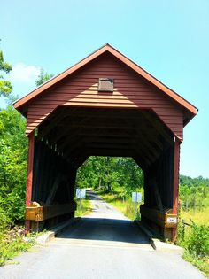 Laurel Creek Covered Bridge, the smallest covered bridge in West Virginia. The bridge is in good condition and still in use. Monroe County, WV