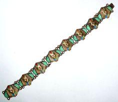 Max Neiger bracelet in the Egyptian Revival style.  Photograph Gillian Horsup. bracelet