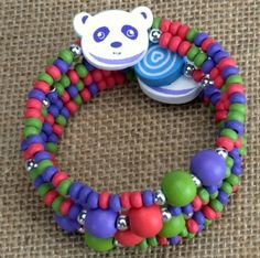 Kids Wooden Wrap Bracelet - Panda at theBIGzoo.com, an animal-themed superstore.