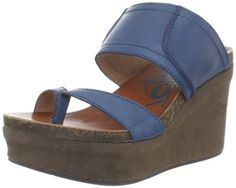 OTBT Womens Brookfield Wedge Sandal  blue