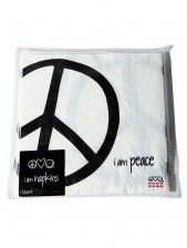 "Peace Love World "" I am peace "" dinner napkins"