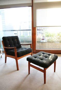 Ole Wanscher armchair & ottoman