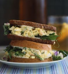 Tarragon Shallot Egg Salad Sandwiches.  So good.