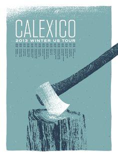 Calexico Tour Poster (AP)   Cast Iron Design Company