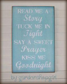 Bedtime Routine Wood Sign Children Baby Nursery by gardenshopgirl, $14.00