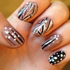 fall nail designs, brown, from nailartdesignideas