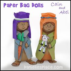 Cain and Abel Paper Plate Dolls Bible Craft for Children's Sunday School from www.daniellesplace.com