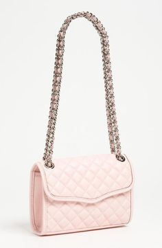 Dainty & pink! Rebecca Minkoff Mini Convertible Crossbody Bag
