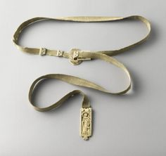 Belt with ivory buckle, pendant and stops (ceinture) (General)