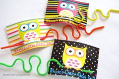"""Free Printable Crazy Straw Owl Valentine's - these are so fun! """"Whoooo's Crazy About You?"""""""