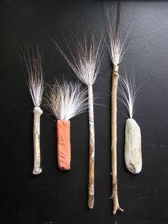 handmade brushes.