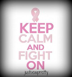 Custom Womens Keep Calm and Fight On Breast Cancer Shirt - Ladies Breast Cancer Awareness T-Shirt