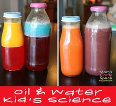 Camp Mom: Oil & Water Science Experiment for Kids via Mom's Crafty Space