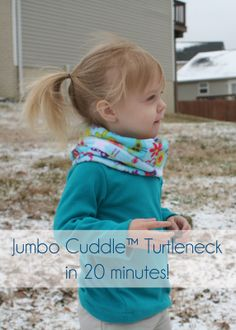 Tutorial - Jumbo Turtleneck in 20 minutes! Features Fly Away by Amy Schimler http://www.shannonfabrics.com/robert-kaufman-cuddle-collection-fly-away-by-amy-schimler-c-465_939.html, a @Robert Kaufman Fabrics Cuddle collection. More at @Sewing Mama RaeAnna  www.sewingmamaraeanna