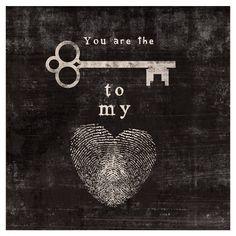 Key To My Heart print