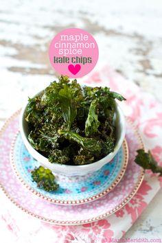 Maple Cinnamon Spice Kale Chips on FamilyFreshCooking.com @Marla Landreth Meridith