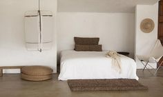 Beautiful & Warm Pared Back Bed Room Styling | Source Unknown