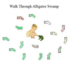 walk through alligator swamp an activity for toddlers more