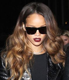 Best ombré hair: Rihanna