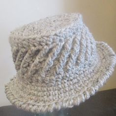 I love this crocheted hat pattern from Grammy Dirlam. Free pattern