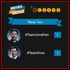 Week Two:  Team Drew evens the score back up with this week's win.  Who will break up the tie in the third challenge?  Go behind the scenes of this week's episode-- http://hg.tv/18b9i
