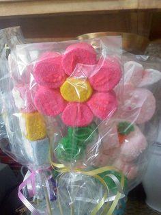 flower marshmallow pop