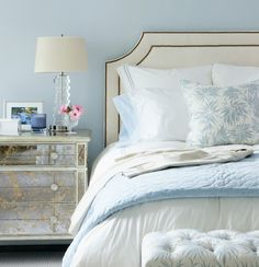 Powder blue is a perfect color for a guest bedroom....very soothing!