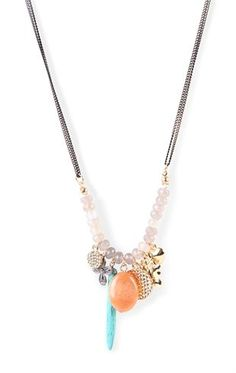 Deb Shops long necklace with charms $7.50