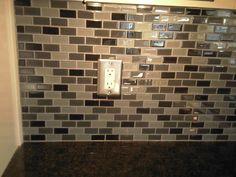 Glass tile blacksplash - Done!