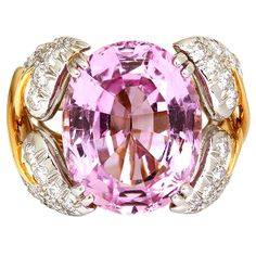 TIFFANY  & Co. Jean Schlumberger Pink Topaz Ring
