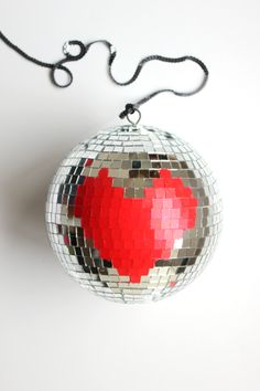 DIY Heart Disco Ball Valentine