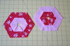 patch tutori, easi doubl, pillow tutori, easi hexagon, hexagon pillow