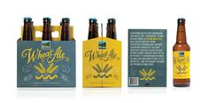 Pretty Packaging! Can't wait to see the Upland Wheat in my fridge. via Design Work Life - Young & Laramore - Upland Brewing Co. Packaging