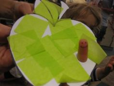 Apple craft for preschool worm story time
