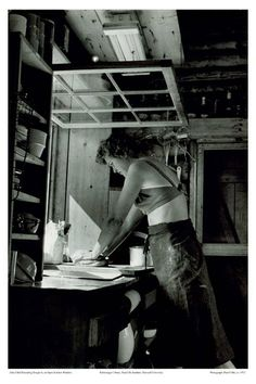 Julia Child making bread, 1952, photographed by Paul Child.